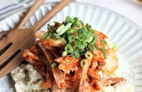 火を使わずにできるおつまみ、キムチャーシュー豆腐