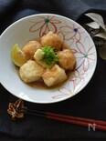 蓮根まんじゅうと豆腐の揚げ出し
