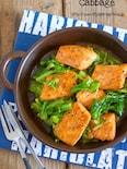 ご飯がモリモリすすむ♪『キャベツと鮭のガリバタ醤油ソテー』