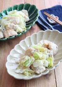 『鶏むね肉と春キャベツのしらすガーリックソテー☆お弁当にも◎』