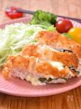 パン粉がはがれにくいバッター液☆鶏むね肉の大葉チーズカツ