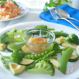 緑野菜の和風バーニャカウダー ☆おもてなし料理にも☆