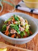 抱えて食べたい♪『湯かけ白菜とツナ塩昆布の無限サラダ』