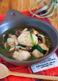 『材料入れてサッと煮るだけ♪『鶏団子と小松菜の和風あん』』