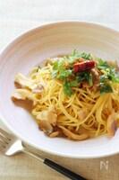 麺つゆで簡単!舞茸とベーコンの和風パスタ
