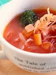 冷凍しらたきのトマトスープパスタ