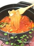 マロニーちゃんと野菜のミネストローネ