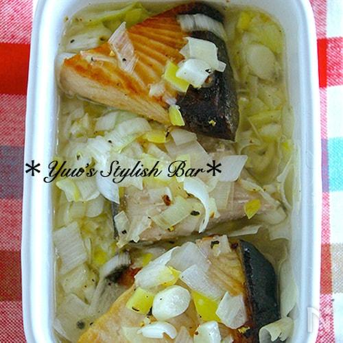 作り置きやお弁当に♪ご飯がすすむ♪『ブリのネギ塩レモン』