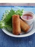 野菜でくるっと巻いて食べる、ベトナム風揚げ春巻き