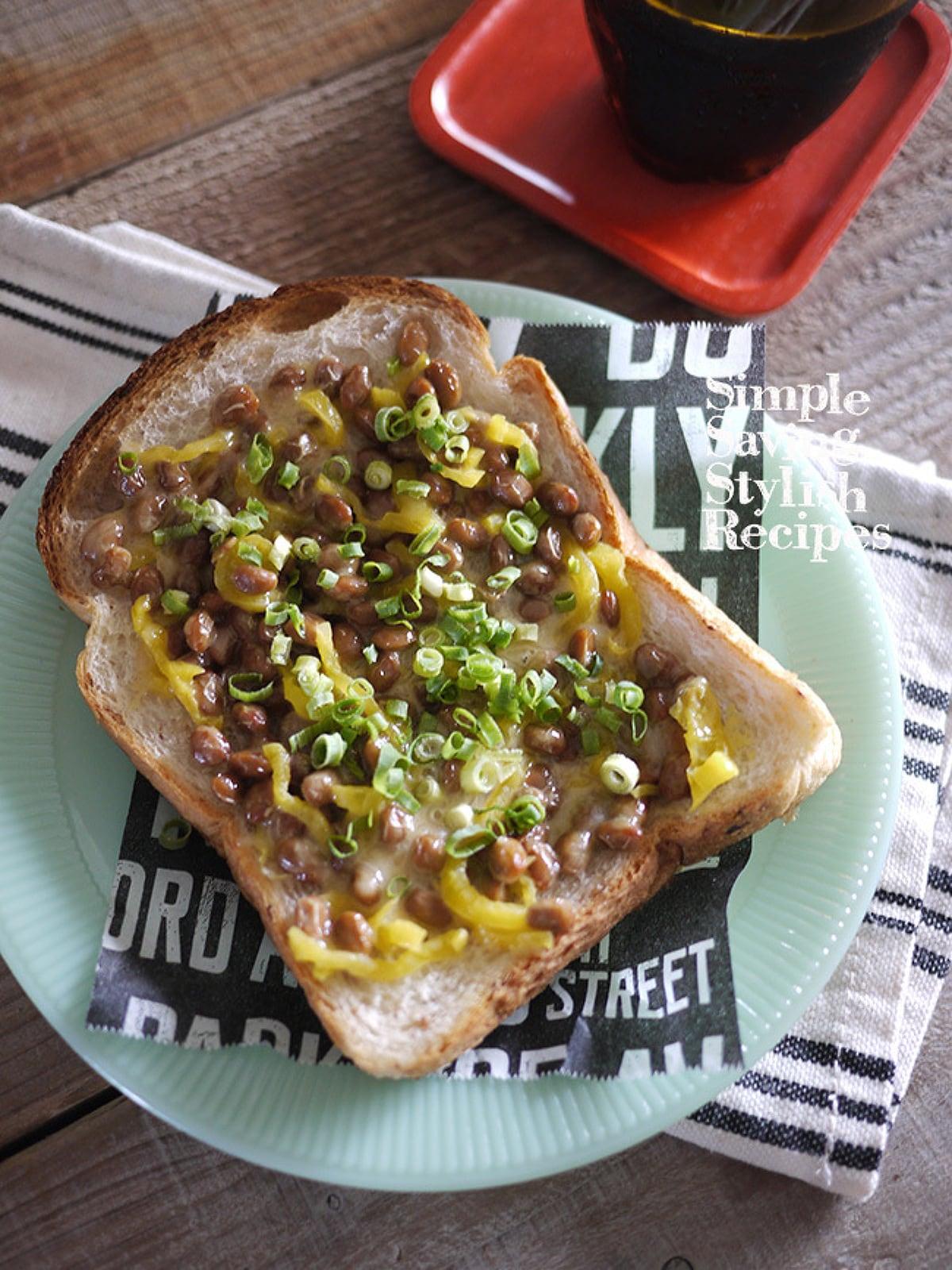 納豆とチーズの和トースト