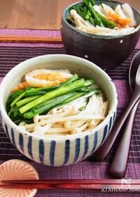 『ニラとえのきのアジアン煮麺(にゅうめん)』