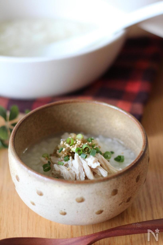 3. 土鍋でも炊飯器でも簡単に、ささみ中華粥