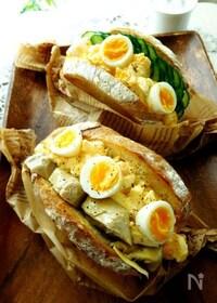 『ボリュームたっぷりうちの卵サンド』
