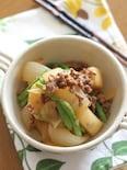 長芋の味噌そぼろ煮