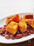 カボチャと小豆と金時豆の煮物