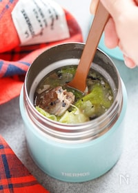 『サバ缶と白菜の味噌煮【#簡単 #包丁不要 #スープジャー】』
