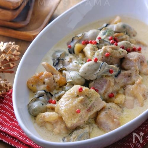 簡単!!*牡蠣とチキンの絶品クリーム煮*