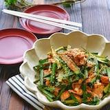 豚肉ときゅうりとニラのめんたいムチム(韓国風和え)