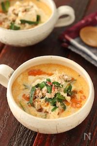 もやしと豆腐の坦々風ごま味噌スープ【#簡単 #レンジ】