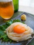 \3分レシピ/卵黄とろり♪イカの生姜醤油和え