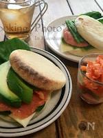 イングリッシュマフィンの☆海鮮サンドイッチ☆