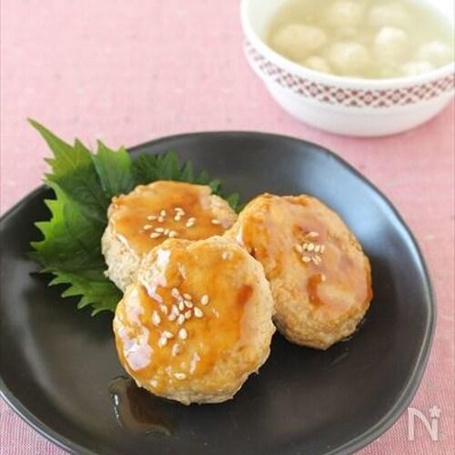 鶏と豆腐の照り焼きつくね
