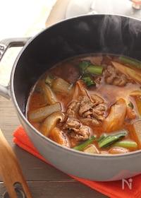 『牛肉と大根のコチュジャンスープ』