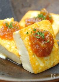 『豆腐の味噌にんにくステーキ』