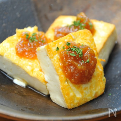 豆腐の味噌にんにくステーキ