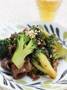 牛肉とブロッコリーのオイスター&マヨ炒め