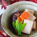 【基本の和食】戻し不要!高野豆腐と干し椎茸、にんじんの含め煮
