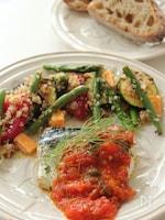 夏野菜とキヌアの粒マスタードサラダ
