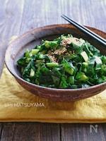 ポリ袋で簡単!小松菜の即席辛子漬け