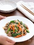 【ごはんが進むおかず】下味調理で簡単!豚肉のプルコギ風炒め