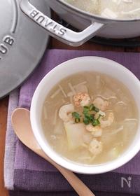 『冬瓜と海老生姜のスープ』