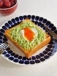 キャベツと卵のカレーマヨトースト