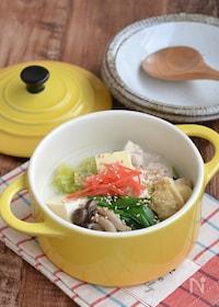 『鶏むね肉のバターとろみスープ鍋』