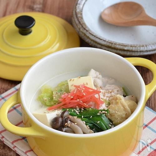 鶏むね肉のバターとろみスープ鍋