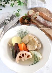 『骨付き鶏と野菜のポトフ』