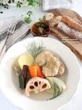 骨付き鶏と野菜のポトフ