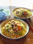 簡単美味しい*小松菜と豚肉のあんかけ焼きそば