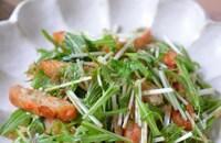 おつまみ風!さつま揚げと水菜の簡単和風サラダ♪