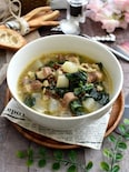冬のごちそう!塩豚と冬野菜の押し麦スープ