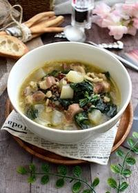 『冬のごちそう!塩豚と冬野菜の押し麦スープ』