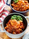 チキンのトマトオニオン煮込み【#作り置き #トマト不使用】