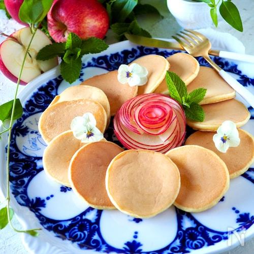 【自家製ホットケーキミックスで】小さな小さなパンケーキ