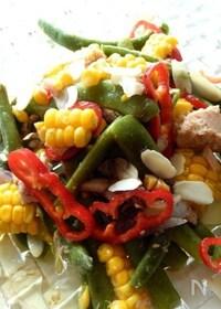 『モロッコインゲンと彩り野菜のサラダアーモンド風味』