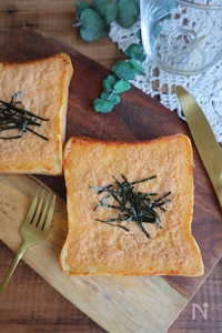 パン屋さんの明太フランス風トースト