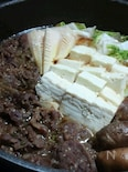 白菜が甘くてとろとろに!コストコのプルコギですき焼き