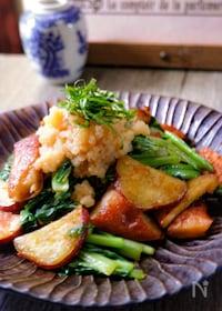 『さつま芋とさつま揚げの小松菜炒め』